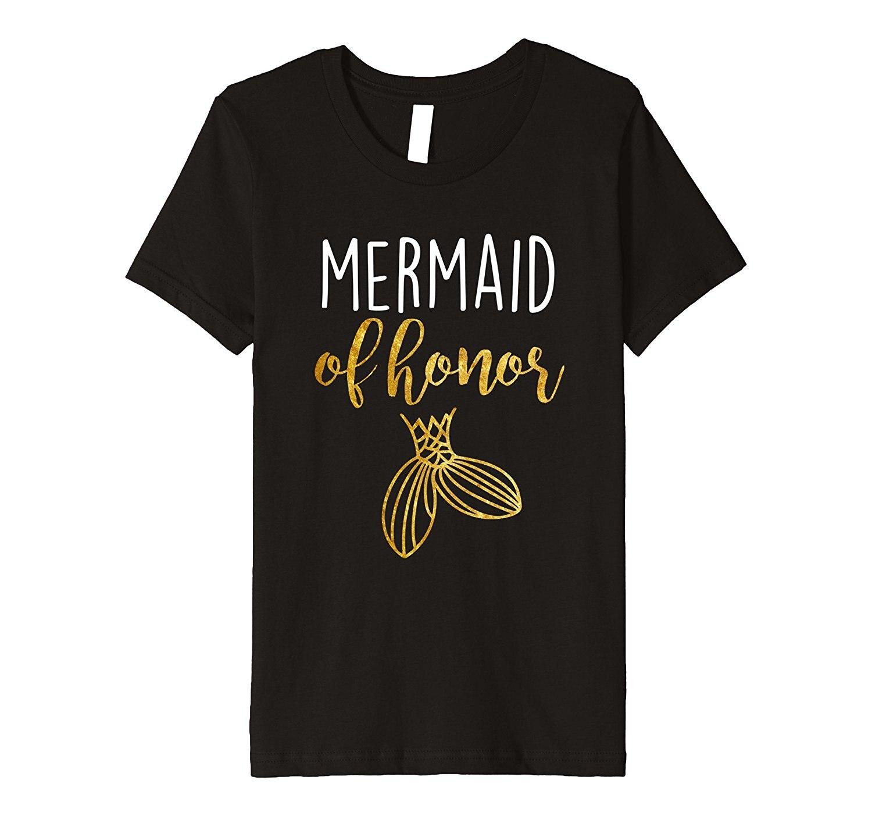 Mermaid Maid of Honor Bachelorette Bridesmaid Party Shirt New Fashion WomenS Short Sleeve Funny Clothe T Shirt Top Tee