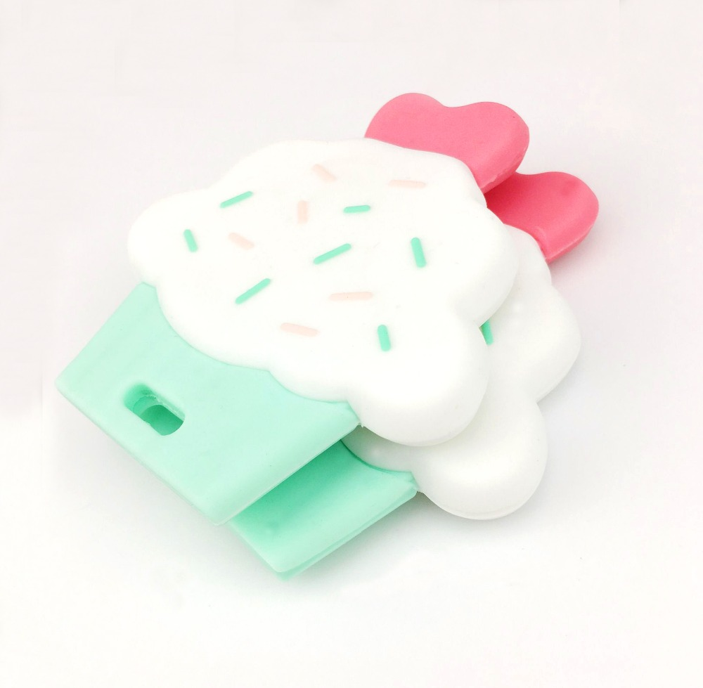 Let s Make Baby Teether 10pcs Silicone Cup Cake Cute Diy Accessories Nursing Teething Toys Pendants