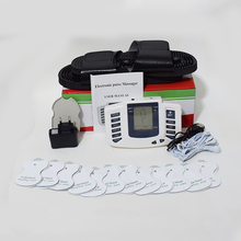 Body Relax Muscle Massager Electrical Stimulator TENS Acupuncture Therapy Pulse physiotherapy Massager 12pads+slipper