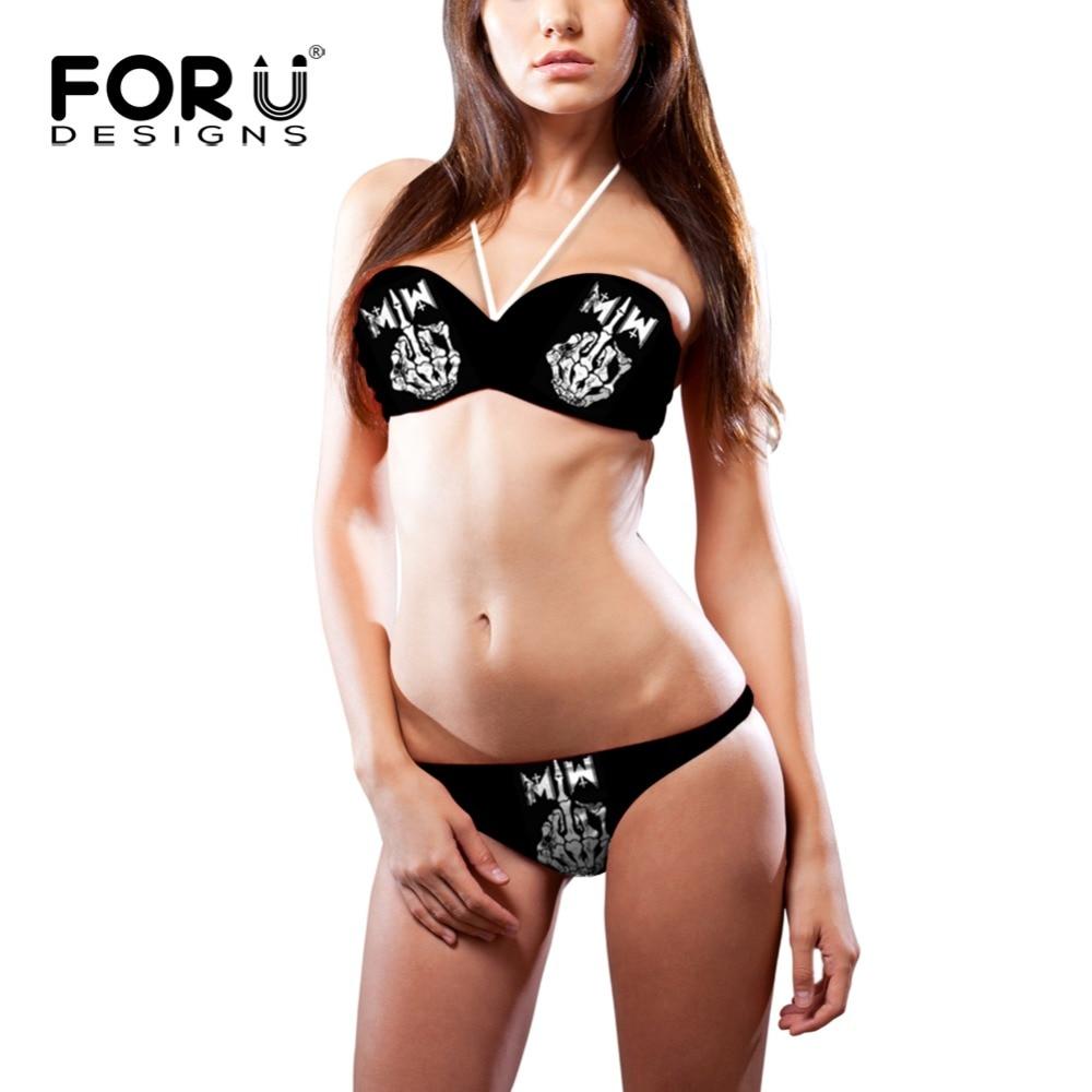 Negru craniu de imprimare Finger de imprimare de costume de baie - Imbracaminte sport si accesorii
