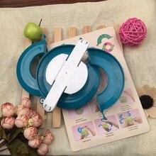 Shippng livre Pom Pom fios Craft criador Fluff bola padrão borlas Loom Pompom DIY ferramenta bigest tamanho 115 mm