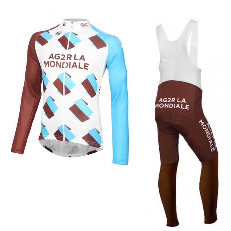 ФОТО 2016 pro tour team AG2R cycling jerseys long sleeve bike jerseys thin quick-dry bike cloth Bicycle maillot Ropa Ciclismo gel