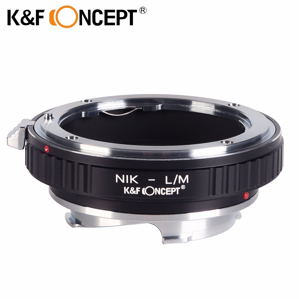 K&F CONCEPT Lens Mount Adapter for Nikon Mount Lens (to) fit for Leica M Lens Camera Body Lens adapter for Nikon L/M adapter