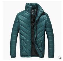 2017 осень и зима новых мужчин увеличить утолщение хлопка Корейский Тонкий зима теплая зимняя куртка куртка размер M-XXXXXL