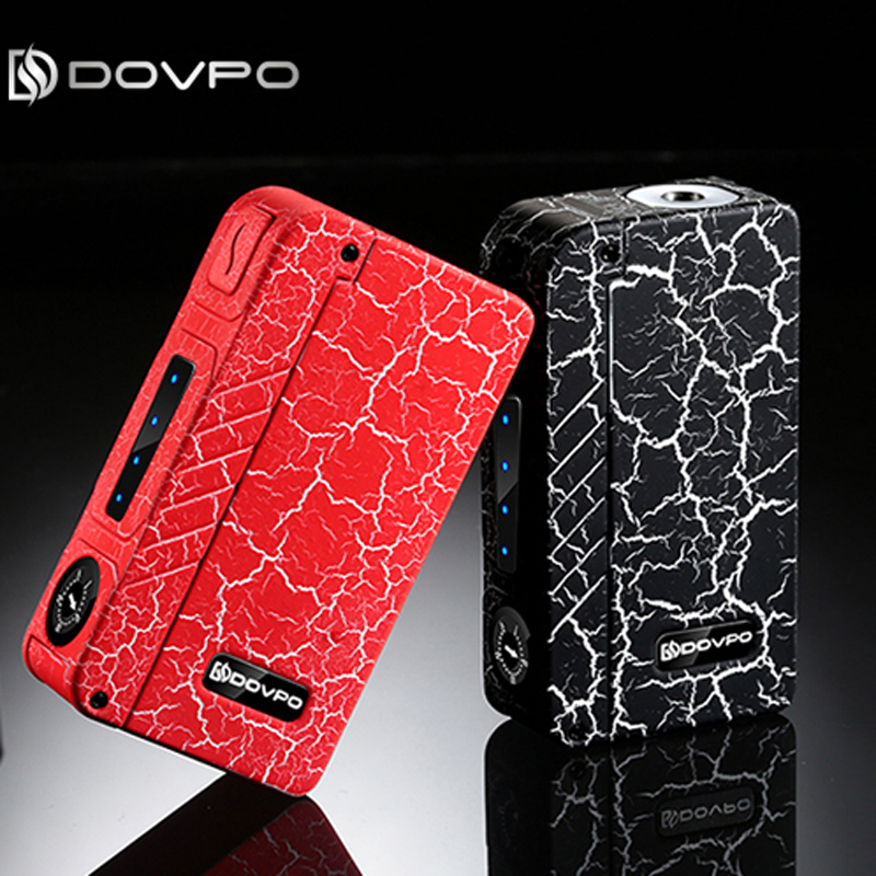100% original 2017 New Zinc Alloy DOVPO MVV VV Box Mods with LED Indication Lights Electronic Cigarette Mech Mod Original E Cig