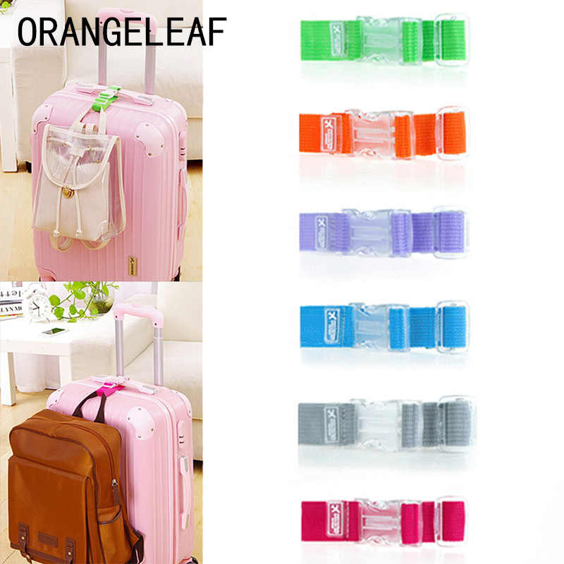 Adjustable Nylon Luggage Straps Luggage Accessories Hanging Buckle Straps Suitcase Bag Straps Colorful Tie Down Belt for Baggage