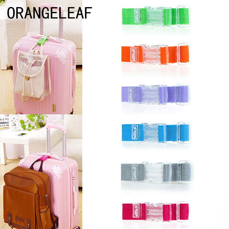 Fashion Adjustable Nylon Luggage Straps Luggage Accessories Hanging Buckle Straps Suitcase Travel Bag Straps Luggage Tags