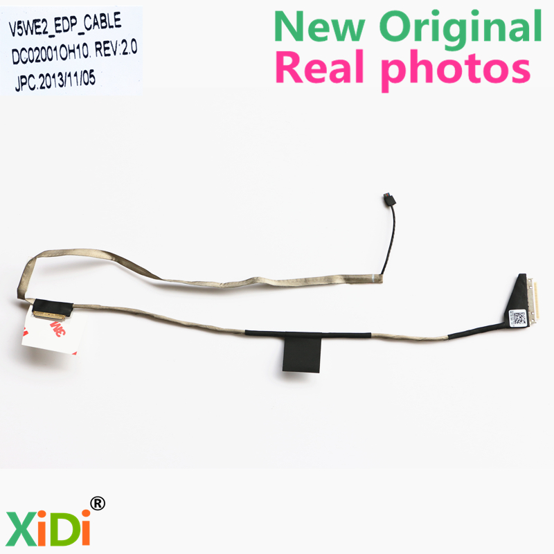 NEW Original LCD CABLE FOR ACER E1-532 E1-570 E1-570G E1-572 E1-572G LCD LVDS CABLE V5WE2 DC02001OH10 quying laptop lcd screen for acer aspire m3 581tpg f5 571 e1 572 e1 530 e1 532 e1 570 e1 570g series 15 6 inch 1366x768 30pin