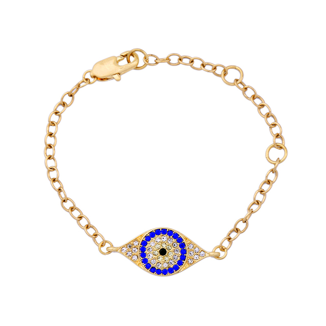 Imitation Blue Bracelet Female Rhinestone Inlay Simple Designer