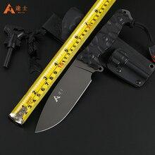 Бесплатная Доставка Высокое Качество Охотничий Нож Открытый Выживания Ся Нож Тактический Нож с K оболочки G10 ручка стартера пожара