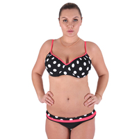 Bikini top cup polka dot pattern 2 color steel to the chest shape women's bikini solid polka dot pattern swimsuit