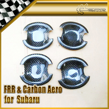 Car Styling For Subar 2008 Forester Real Carbon Fiber Inner Door Cup 4pcs