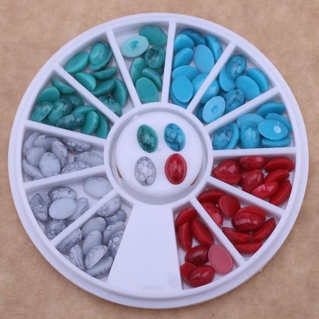 Schönheit & Gesundheit Newby 4 Ccolors/rad Nachahmung Stein Flatback Studs Wassertropfen Form Tipps Für 3d Uv Gel Nail Art Dekorationen Werkzeuge