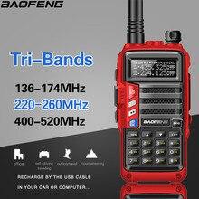 Baofeng UV S9 tri band 136 174/220 260/400 520 mhz 8 watts de alta potência portátil walkie talkie 10km transceptor de rádio cb de longo alcance