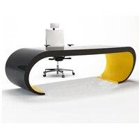 0228TB012 Модный стильный современный пиано краска стол профилированный arcuated компьютерный стол креативный Рабочий стол компьютерный стол
