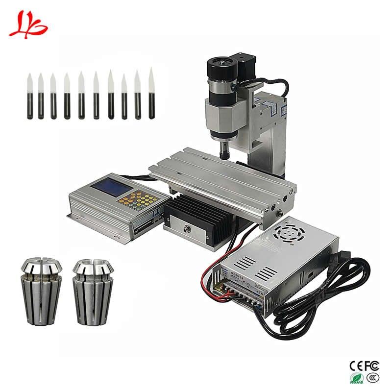 3D mini cnc milling machine Column type vertical wood cnc router 10103D mini cnc milling machine Column type vertical wood cnc router 1010