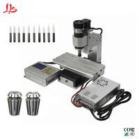 3D mini cnc milling machine Column type vertical wood cnc router 1010