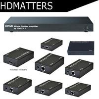 HDMI 1X8 UTP extender splitter по cat5e/6 до 60 м с 8 HDMI приемники включены полный HD1080P