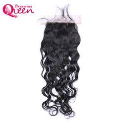 Dreaming queen hair natural color water wave lace closure brazilian remy human hair bleached knots closure.jpg 250x250