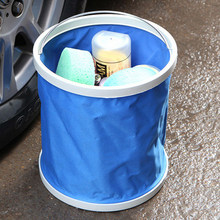 9L Car Folding Collapsible Bucket Oxford Cloth Car Washing Buckets Fishing Bucket of High-quality Container Storage Box(China)