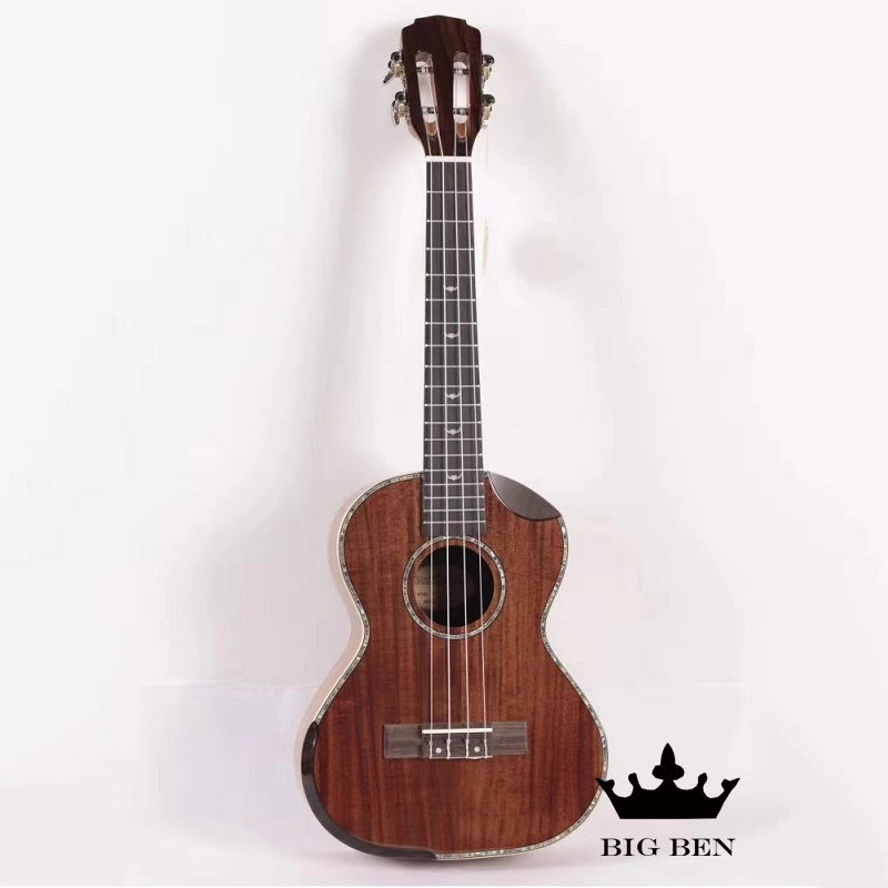 26 polegada Koa todos os sólidos de madeira pequena guitarra 26 polegada sólida top porca de osso bovino Acácia ukulele Ukelele jacarandá fingerboard unisex