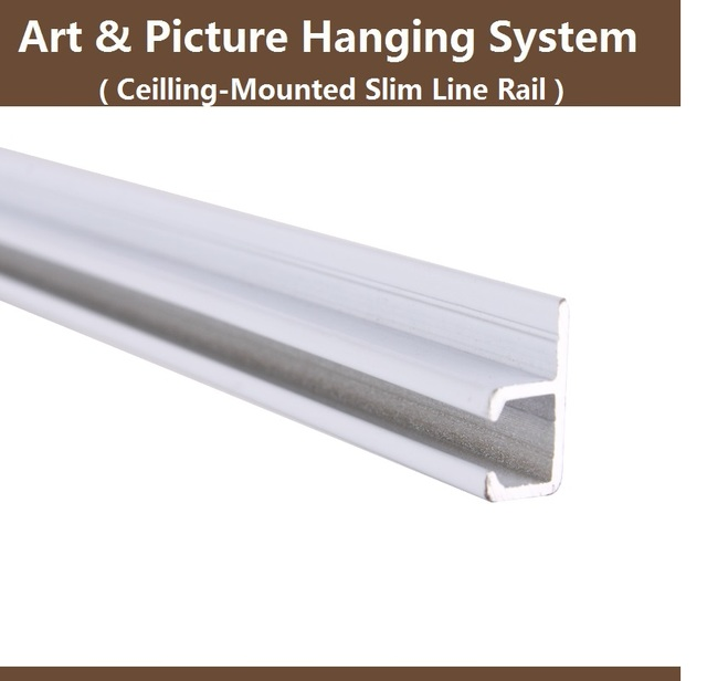 Art And Picture Hanging System Partsslim Rail Trackceiling Mounted