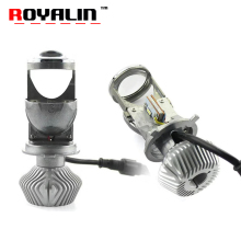 ROYALIN H4 9003 Bi LED Mini 1.5 inch Projector Headlights Full Metal Lens Car Motorcycle Headlamp Retrofit Hi/Lo Light 60W 5500K