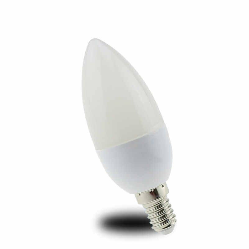 10X żarówka świeczka Led E14 5W 7W 9W 220V oszczędność energii reflektor ciepły/zimny biały chandlier lampa kryształowa ampułka Bombillas lampa domowa