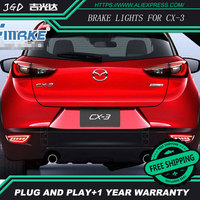 Free shipping Tail light parking warning rear bumper reflector for Mazda CX 3 CX3 CX 3 2016 2017 Car styling