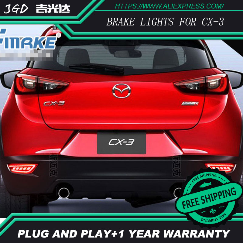 Free shipping Tail light parking warning rear bumper reflector for Mazda CX-3 CX3 CX 3 2016 2017 Car styling