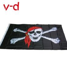 Бесплатная доставка xvggdg 90*150 см цельнокроеный пиратский флаг/флаг с черепом/баннер для Хэллоуина/мероприятий на Хэллоуин качественный поли...