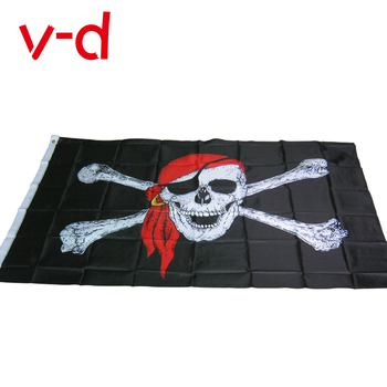 free  shipping xvggdg 90* 150CM One Piece pirate flag / skull Flag Banner Halloween activities quality polyester
