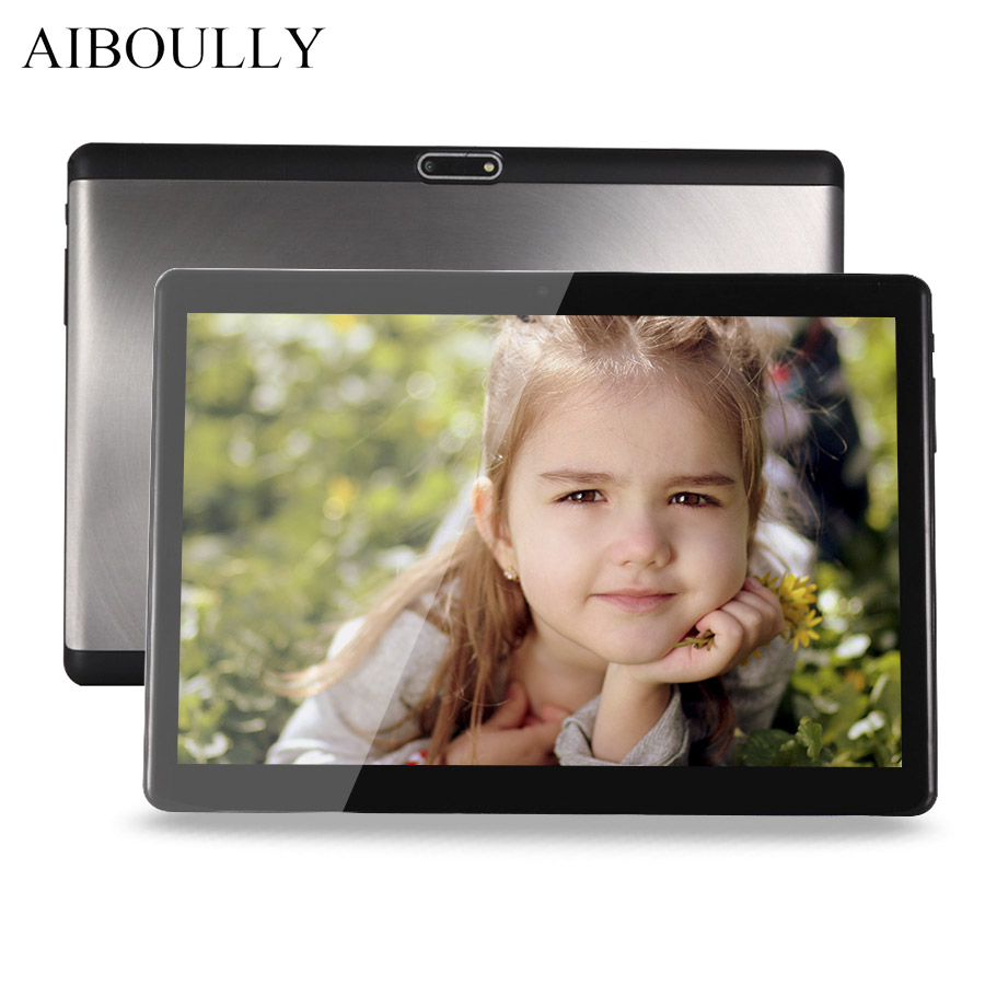AIBOULLY 10.1 inch Tablets Android 7.0 3g Phone Call Tablet PC 1920*1200 IPS Octa Core 4G RAM 6000 mAh Dual SIM A-GPS 8 9.7 10'' tablet pc 10 inch 3g 4g tablet octa core 1920 1200 ips 4g 128gb rom keyboard android 6 0 gps bluetooth dual sim card phone call