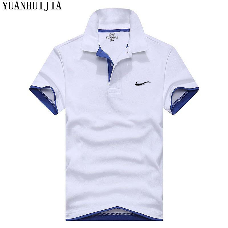 New 2019 High quality Slim   Polo   hot brand clothing male casual men's fashion casual shirt solid color cotton   polo   shirt men