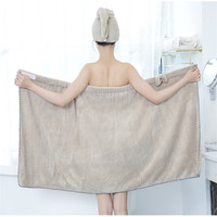 1Set Bath Skirt Shower Cap Dry Towel Bow Bath Towel Khan Steamed SPA Pajamas Multifunction Home