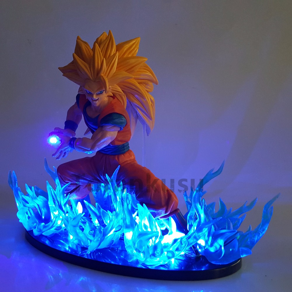 Dragon Ball Z Action Figure Son Goku FES DIY LED Light Set Dragon Ball Super Super Saiyan 3 Gokou Model Toys DIY184 dragon ball dxf the super warriors vol 3 super saiyan rose gokou black and vegetto pvc figure collectible model toys kt4201
