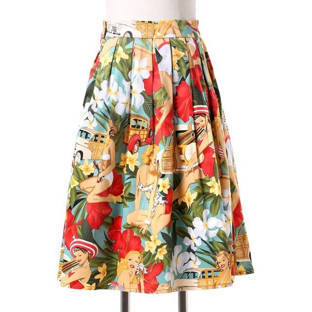 Faldas Para Mujer de La impresión del punto de polca retro Vintage 50 s faldas Pinup 60 s Algodón Saias Jupe Femme estilo de Baile de Verano de las mujeres falda