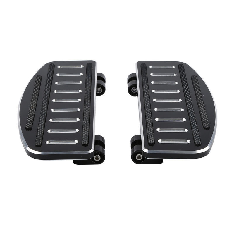 Foot Rests Reliable Cnc Rider Footboard Insert Kit For Harley Touring Road Street Electra Glide Trike Fld 86-18 Fl Softail Flht Flstf Fld Fl 86-18 Smoothing Circulation And Stopping Pains Automobiles & Motorcycles