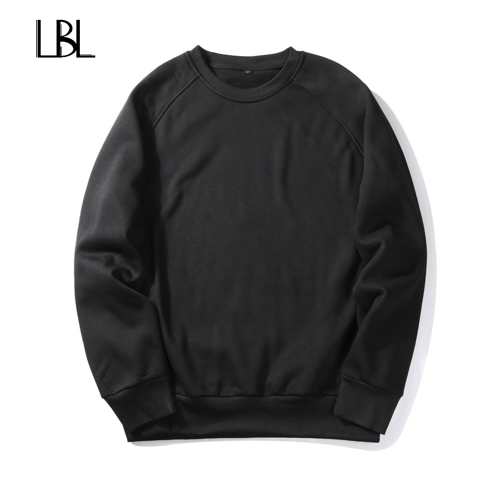 Europe Size Spring Thick Sweatshirts Men Warm Pullover Streetwear Round Collar Sportswear Solid Color Fleece Men/Woman Hoodies