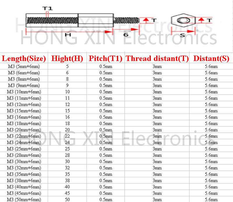 M3 * 22 + 6 branco 1 pcs 22mm Nylon Standoff Spacer M3 Padrão Masculino-Feminino Standoff Kit ferramenta de reparação Conjunto de Alta Qualidade PC
