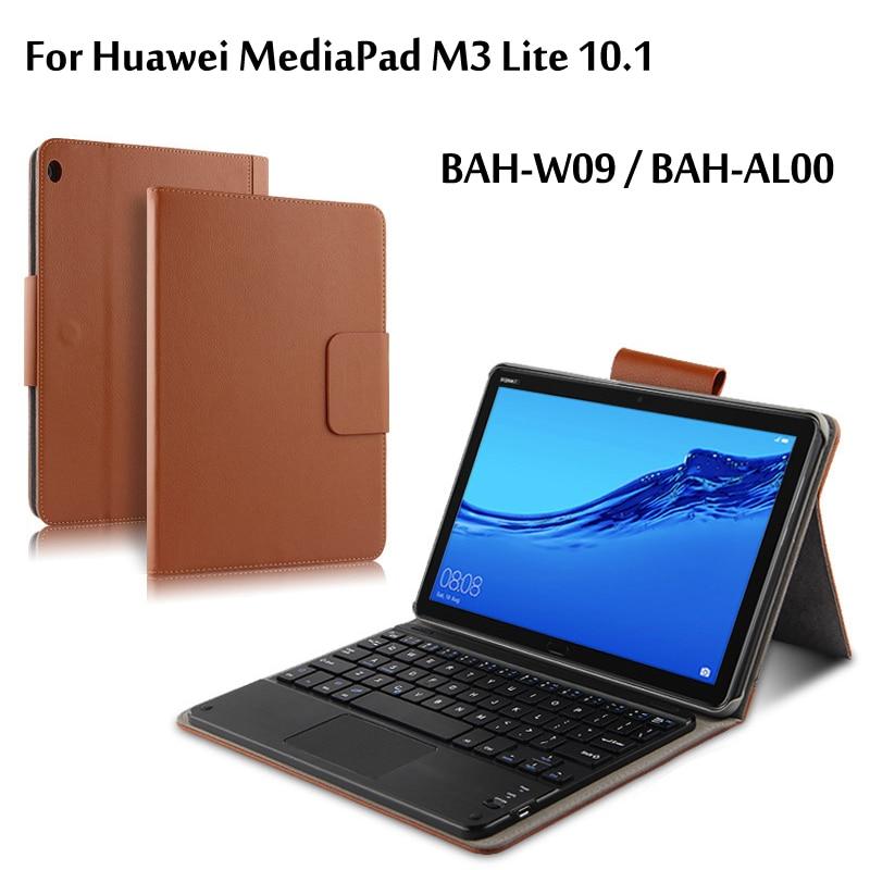 Sans fil étui pour clavier bluetooth pour Huawei MediaPad M3 Lite 10 BAH-W09 BAH-AL00 10.1 Pouces étui pour tablette En Cuir Funda Couverture