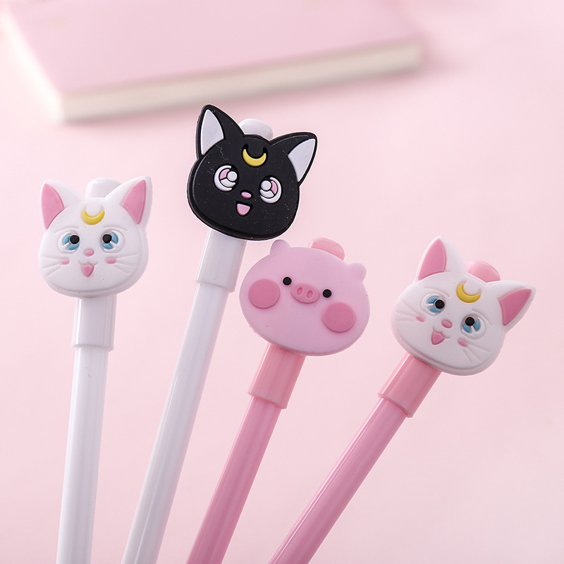 Lovely Cartoon Sailor Moon Cat Gel Ink Pen Set Promotional Gift Stationery School & Office Supply Birthday Gift