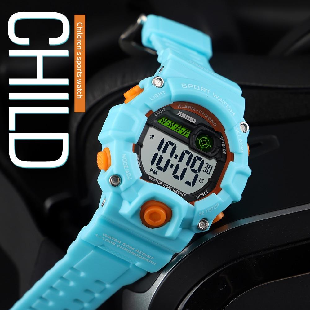 SKMEI Outdoor Sport Children Watch 50M Waterproof Electronic Watch For Boys Girls Kids Children Gifts LED Digital Kids Watches