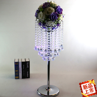 Kryształ dekoracje ślubne ślub tabela budynkiem wazon kwiatów paciorkami ślubne dostaw 10 sztuk/partia