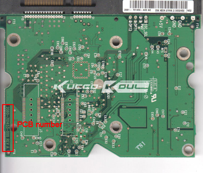 HDD PCB Circuit Board 2060-701453-000 REV A For WD 3.5 SATA Hard Drive Repair Data Recovery