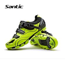 Santic Men Mountain Bike Shoes 2018 Pro Team Racing Cycling Shoes Breathable Anti-slip Bicycle Shoes Sneakers Ciclismo 3 Colors(China)
