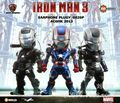 New Marvel Movie Iron Man 3 Action Figure Models Ironman Toys 3 pieces/set Collection Retail Box Kids Gifts
