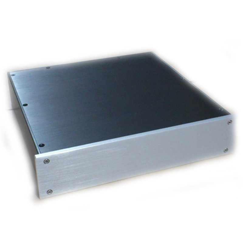 bz3207 Full aluminum pwer amplifier enclosure Preamplifier chassis DAC Decoder case/box 430*55*306mm стоимость