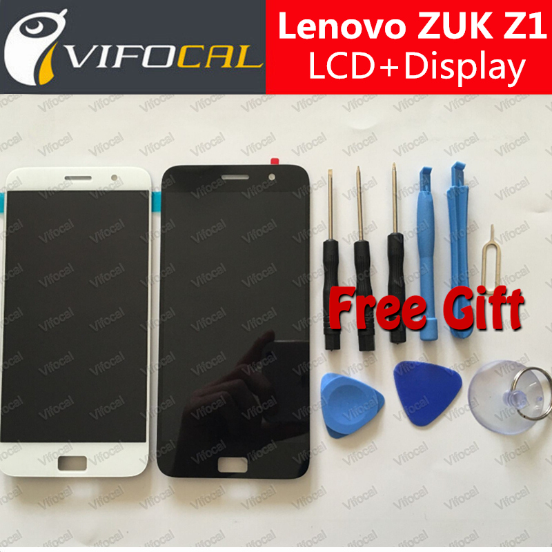 For Lenovo ZUK Z1 LCD Display + Touch Screen + Tools high quality Digitizer Assembly Replacement For Lenovo ZUK Z1 Cell Phone high quality 5 3 for lenovo s898 s898t lcd display touch screen digitizer assembly replacement tools free shipping