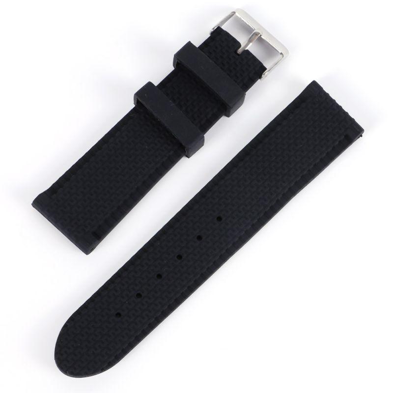 Men Sport Band Soft Silicone Strap Rubber Waterproof Wrist Watch Band 18-24mm все цены